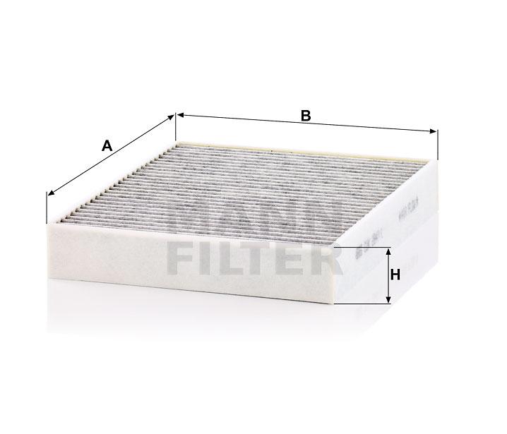 Cabin Air Filter MANN CUK 2847//1