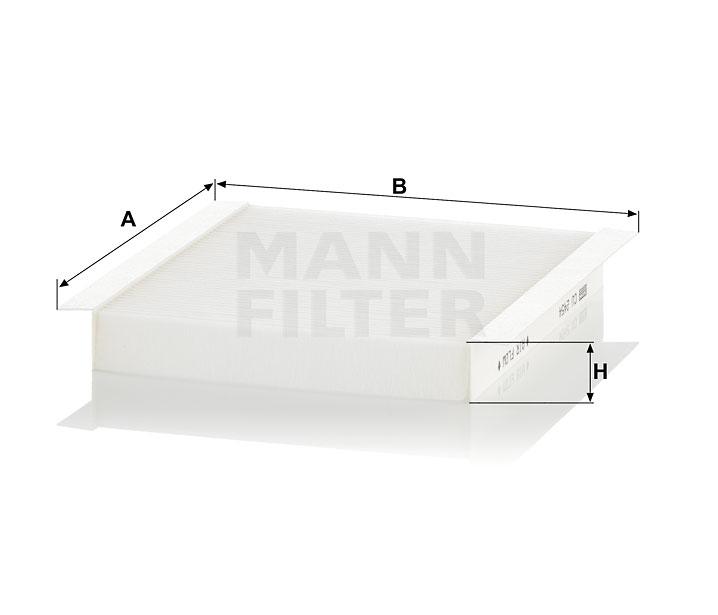 Mann Filter CU2454 Cabin Air Filter