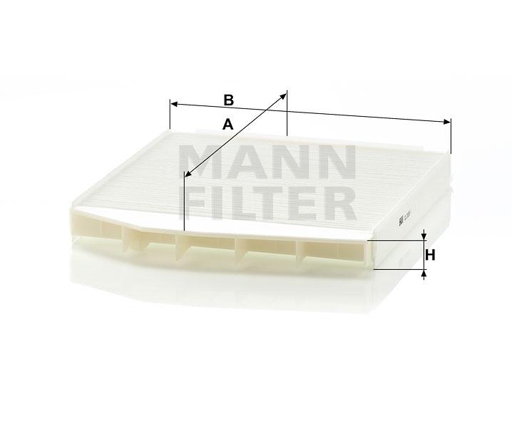Cabin Air Filter MANN CU 2855