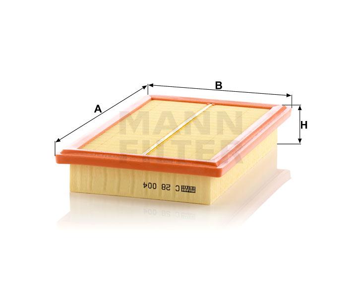 Filtro de aire Mann-Filter C 45 004
