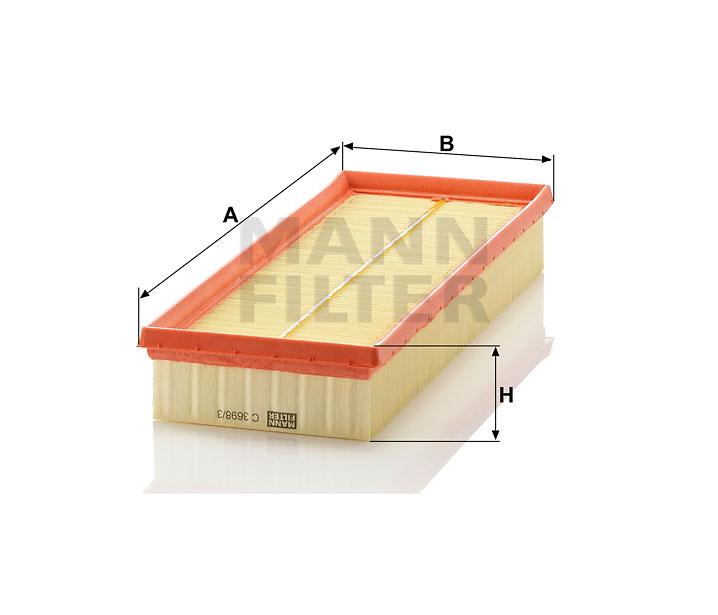 Air Filter MANN C 3698//3-2