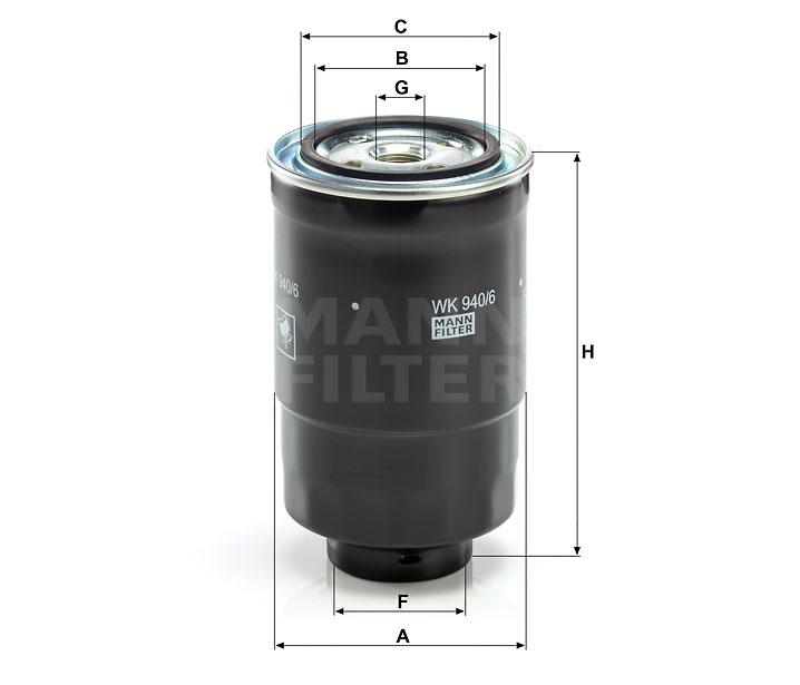 Homme-Filtrecarburant filtre avec joints pour MITSUBISHI pour wk 940//16 X